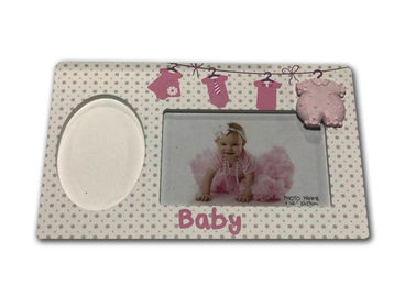 Art Keepsake Baby Clay Frame Wooden First Footprints / Handprint Kit