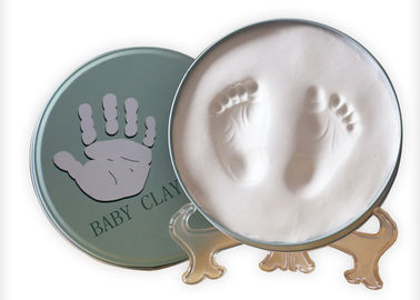 China Baby Inspirational Clay Hand And Footprint Kit In Keepsake Tin factory