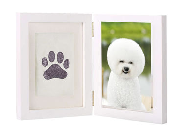 China Customized Pet Keepsake Frame Ink Pad Paw Print Memorial Picture Frame factory
