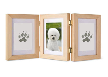 China Solid Wood Pet Photo Collage Frame Ink Pad For Pet Paw Print factory