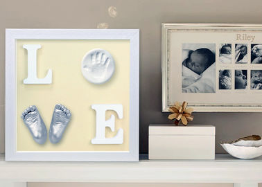 Baby 3D Baby Casting Kit Babies Mold Cast Wooden Photo Frame