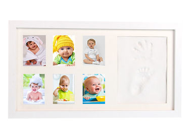 China White Wooden Monthly Keepsake Photo Frame Newborn Infant Memory Kit factory