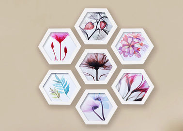 China Solid Wooden Hexagon Picture Frame Set For Home / Hotel Wall Decoration factory
