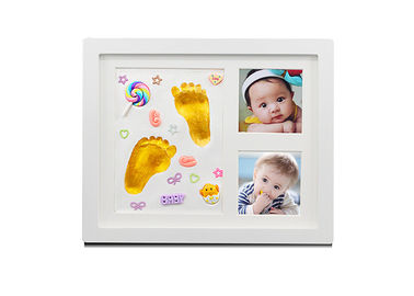 China 9×11'' Baby Hand And Footprint Photo Frame With Decorations / Paint Color factory