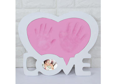 China White Wedding Heart Love Frame Couple Handprint Photo Frame For Anniversary Memorial Day factory