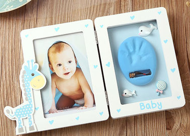 China Unique Baby Clay Frame Memorable Baby Handprint Clay Kit Photo Frame factory