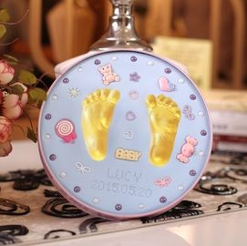 Newborn Baby Keepsake Tin Birthday Gift Hand And Footprint Clay Kit