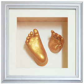 Little Baby Memory Hand And Foot Casting Photo Frame With Painting