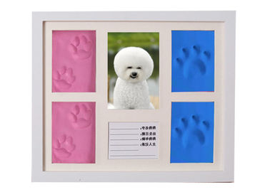 Wood Pet Keepsake Frame Picture Frame Clay Kit For Pet Paw Print Memory