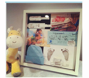 Memory Shower Shadow Box Baby ID Band Footprint First time Use Accessory