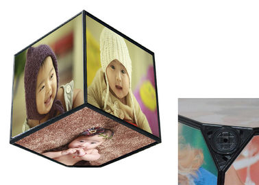 360 Rotating Baby Birth Souvenirs , Six Sides Cube Box Photo Frame For Home Decoration